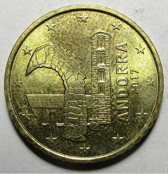 Andorra Moneda 50 Centimos De Euro 2017 Km#525 Unc