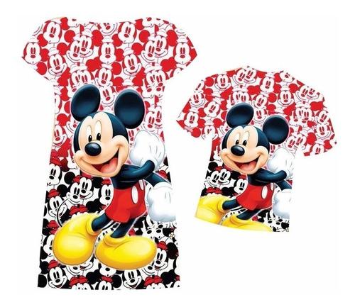afdda0534c2750 Vestido E Camiseta Tal Mãe, Tal Filho Mickey