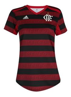 Camisa Flamengo Feminino Rosa 2020 Original - Baby Look Top