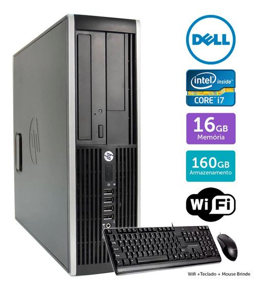 Computador Usado Hp Compaq 8200sff I7 16gb 160gb Brinde