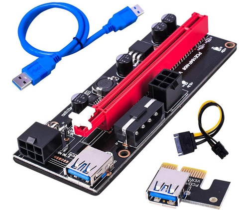Riser Pci-e 16x A 1x - Ext X Usb 60cm - Mineria V 009s - Rig
