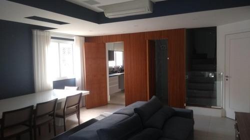 Imagem 1 de 30 de Apartamento Duplex Mobiliado, Com 3 Dormitórios À Venda, 148 M² Por R$ 1.950.000 - Vila Olímpia - São Paulo/sp - Ad0180