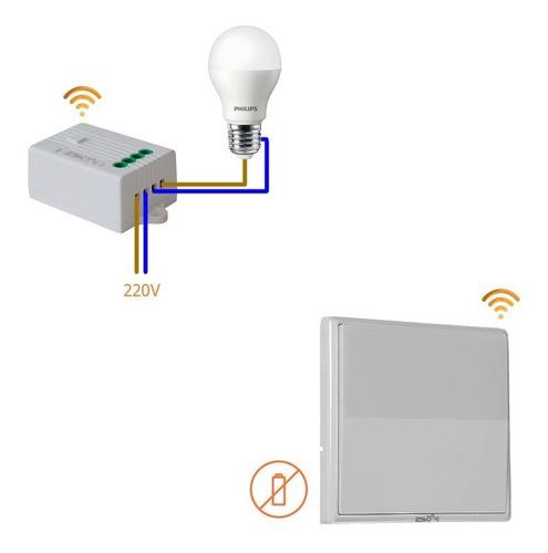 Llave De Luz 1 Punto Inalambrica Interruptor 2bk No Wifi