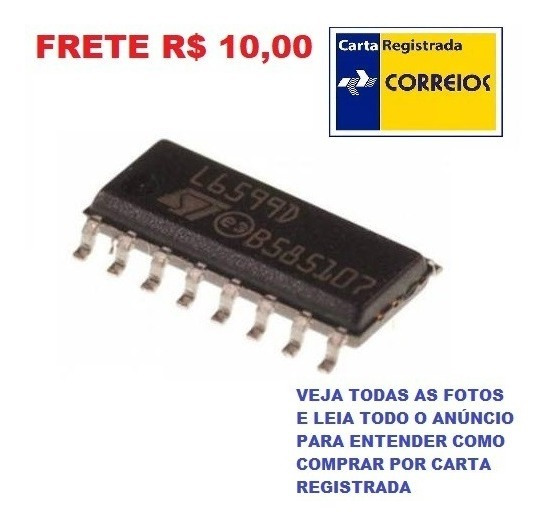 Ci Smd L6599d - L6599dtr - L6599 - Sop16 - Frete R$ 10,00