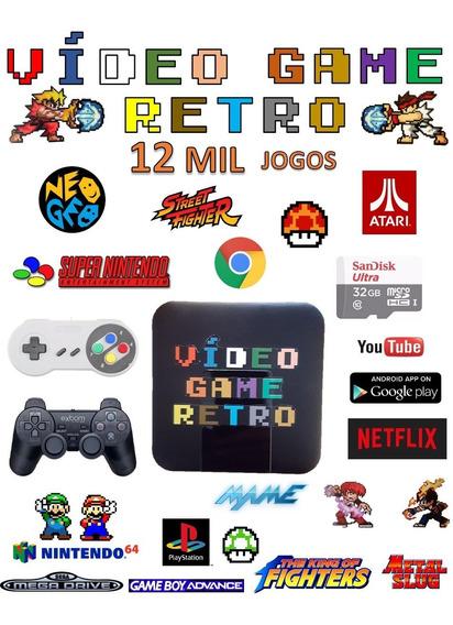 Video Game Retro Smart 32gb Com 2 Controles Jogos Retro