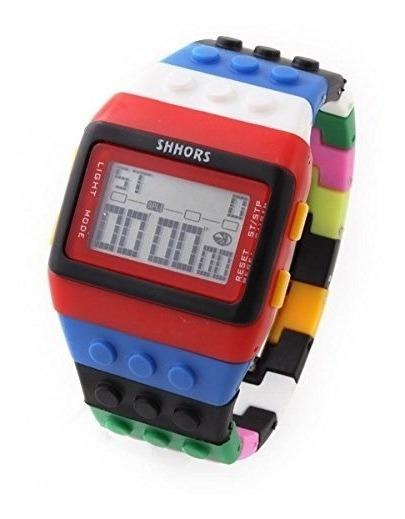 Relógio De Pulso Unissex Shhors Digital Colorido
