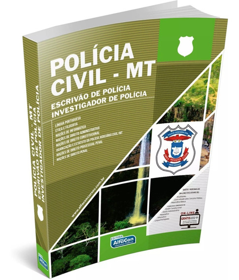 Polícia Civil Do Mato Grosso - Mt- Apostila Afacon