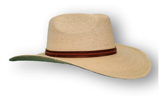 Sombrero Palma Fina De Tlapehuala Refaldeado, Tipo Hipster