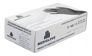 Guantes Nitrilo Negro Mediglove X100u Comida Manicuria Salud