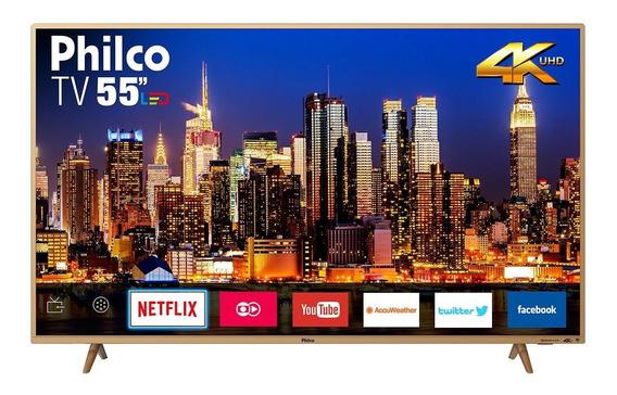 Tv Philco Led 4k 55 Ptv55f61snc Bivolt