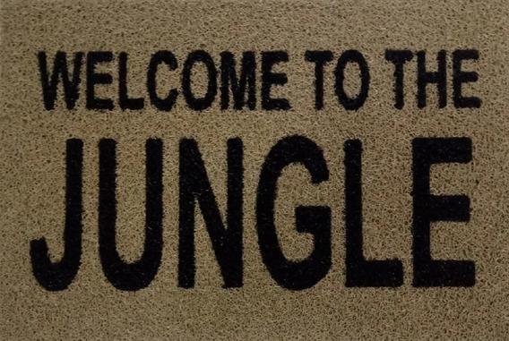 Tapete Capacho Personalizado Divertido Welcome To The Jungle