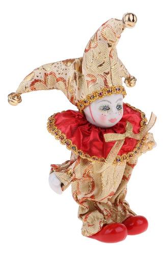 6 Polegada Porcelana Triangel Boneca Palhaço Casa Exibir