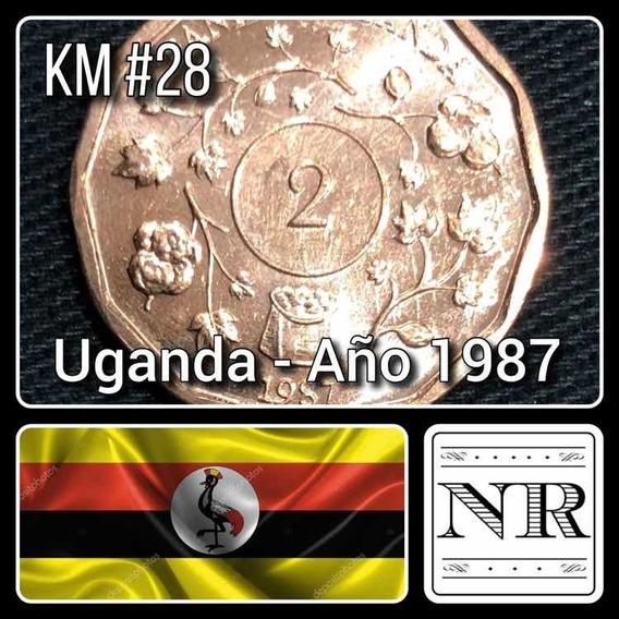 Uganda - 2 Shillings - Año 1987 - Km # 28 - Africa