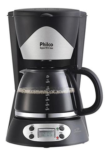 Cafeteira Elétrica Philco Digital Inox Preto 220v - Ph14