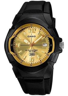 Reloj Casio Hombre Mw-600f Dorado Wr 100 M Oferta