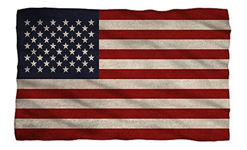 Vieja Bandera Americana  Manta De Forro Polar