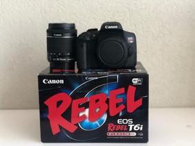 Câmera Canon Eos Rebel T6i + Lente 18-55 Stm + 16gb + Bolsa