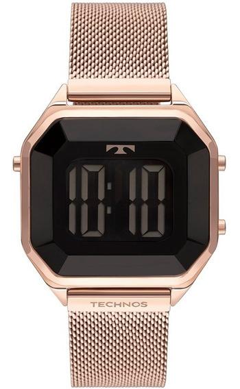 Relógio Technos Feminino Crystal Bj3851ak/4p Rose Digital