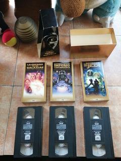 Trilogía Star Wars Vhs Casettes Como Nuevos.