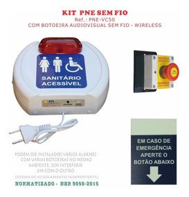 Kit Alarme Audiovisual Pne Emergência - Sem Fio Nbr 9050
