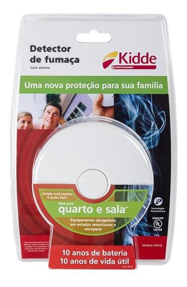 Kit 02 Detector Fumaça Sala Quarto + 1 Cozinha Kidde