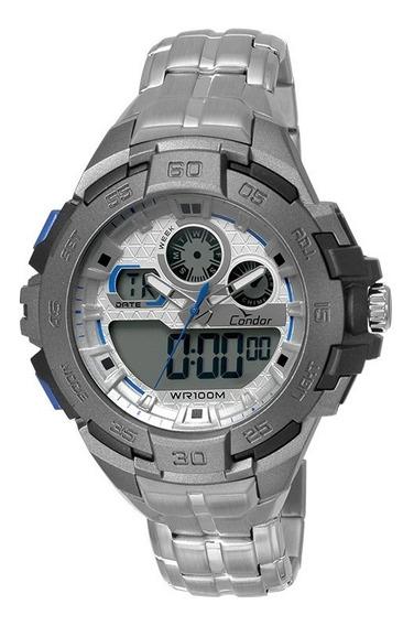 Relógio Condor Masculino Anadigi Co1154br/3k Prata Oferta
