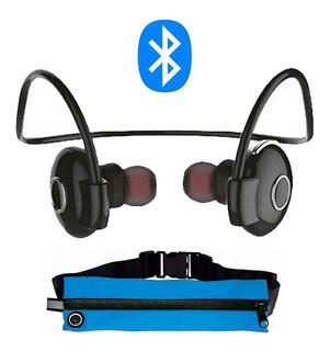 Auricular Deportivo Vincha Bluetooth + Riñonera Deportiva