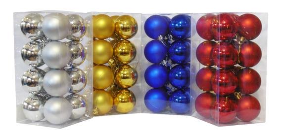 Adornos Navideños Set Bolas De Navidad 4cm X16 Unidades