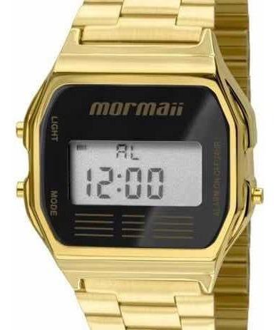 Relógio Mormaii Vintage Digital Dourado