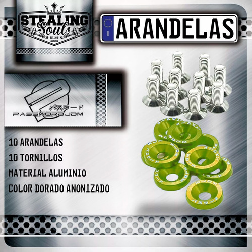 Imagen 1 de 2 de Password Jdm   Arandela / Tornillo   X10   Motor   Dorado