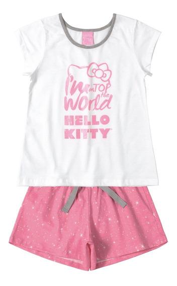 Pijama Mãe E Filha Adulto Hello Kitty