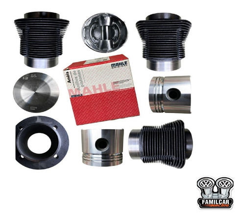 Imagen 1 de 4 de Kit De Motor Repuestos Fusca 1600 Cabeza Plana Mahle 85.5mm