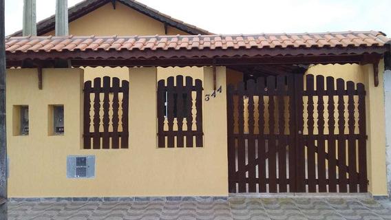 Linda Casa Nova Poucos Metros Da Pista Principal Em Mongaguá