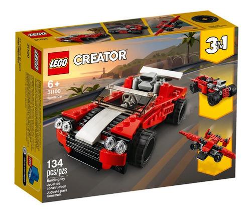 Imagem 1 de 4 de Lego Creator - 3 Em 1 - Carro Esportivo Vermelho -31100-lego