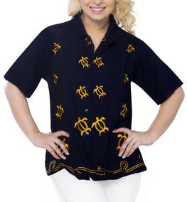 La Hawaiano La Leela Camisa Blusas De Fiesta Manga Corta Man