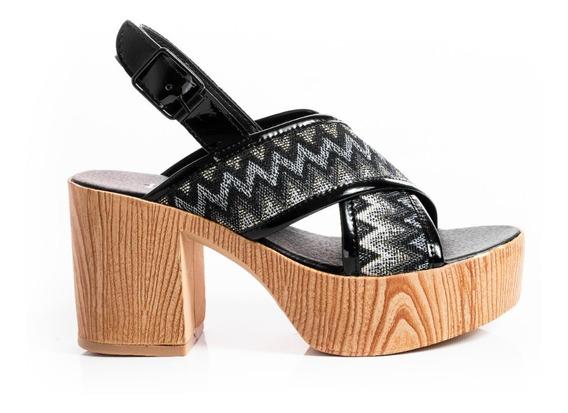 Zapatos Mujer Sandalias Plataformas Fiesta Taco Madera