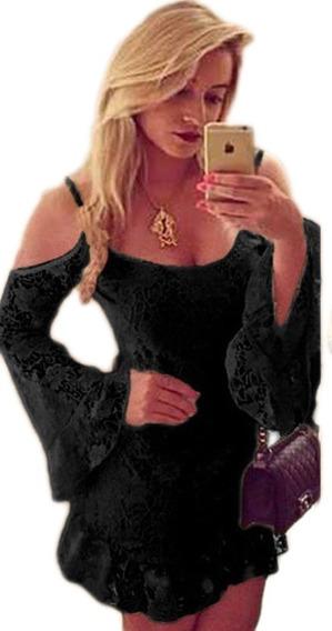 Vestido Em Renda Ciganinha Gipsy Plus Size Gordinha Festa