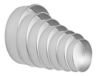 10 Moldes Aluminio Duraforte Para Pastel