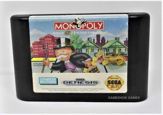 Monopoly Original Mega Drive + Capa Plastica