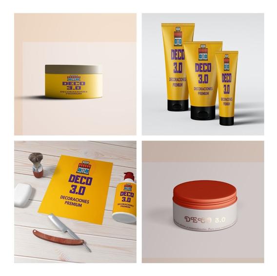 5 Mockup Envase Maquillaje Pote Crema Jabon Pomos Photoshop