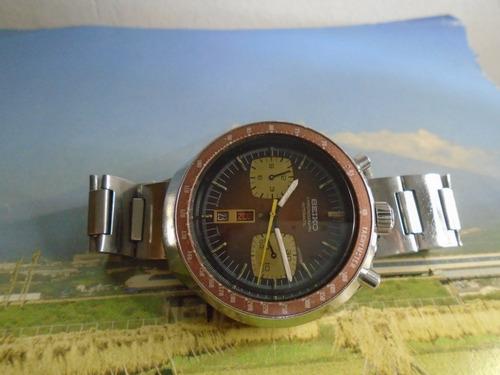 Seiko Cronografo  Antigo Bullhead 6136 0040 Cal 6138 B Raro