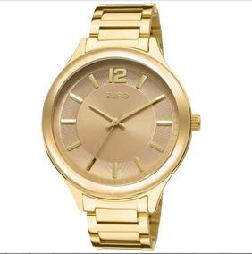 Relógio Feminino Euro Dourado Ouro Fundo Rosê Eu2035lqy/4m