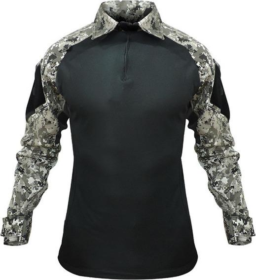 Camisa Tática Militar Rip Stop Camuflada Paintball Airsoft