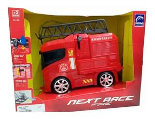 Caminhão Bombeiro-brinquedo-next Race Fire 1958 -