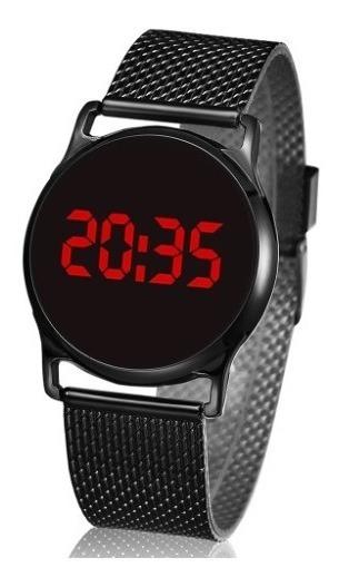 Reloj Digital Touch Screen Negro