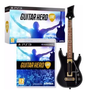 Guitar Hero Live Ps3 Guitarra +juego Fisico Sellado Ade