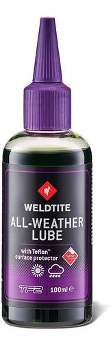 Imagen 1 de 5 de Lubricante Para Cadena De Bici Weldtite All Weather. Premium