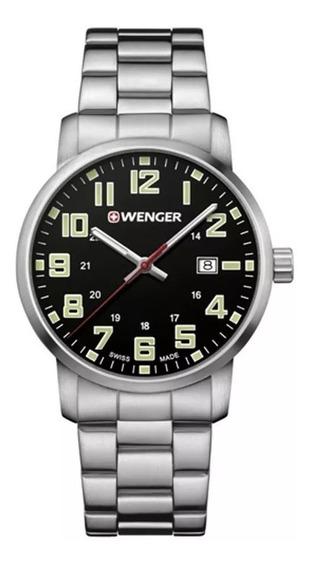 Relógio De Pulso Suíço Wenger Avenue Aço Inox 42mm 011641111