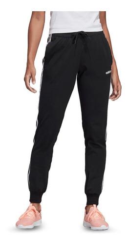 Pantalon adidas 3 Tiras Essentials Negro Blanco Mujer Dp2377