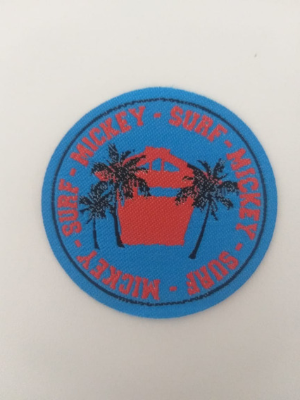 Patche Mickey Surf 6cmx6cm Termocolante Patch Aplique